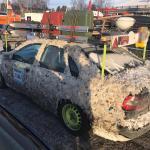Hundratals skrotbilar rullade genom Sveg