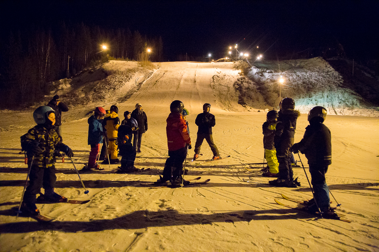 Nu är skidskolan igång i Björnberget