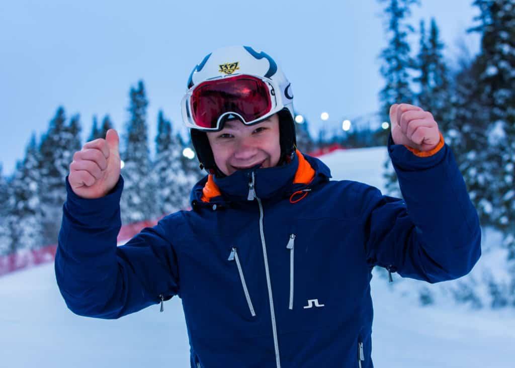 Anton Rösnäs, Vemdalens Alpina. Foto: Viv Madigan