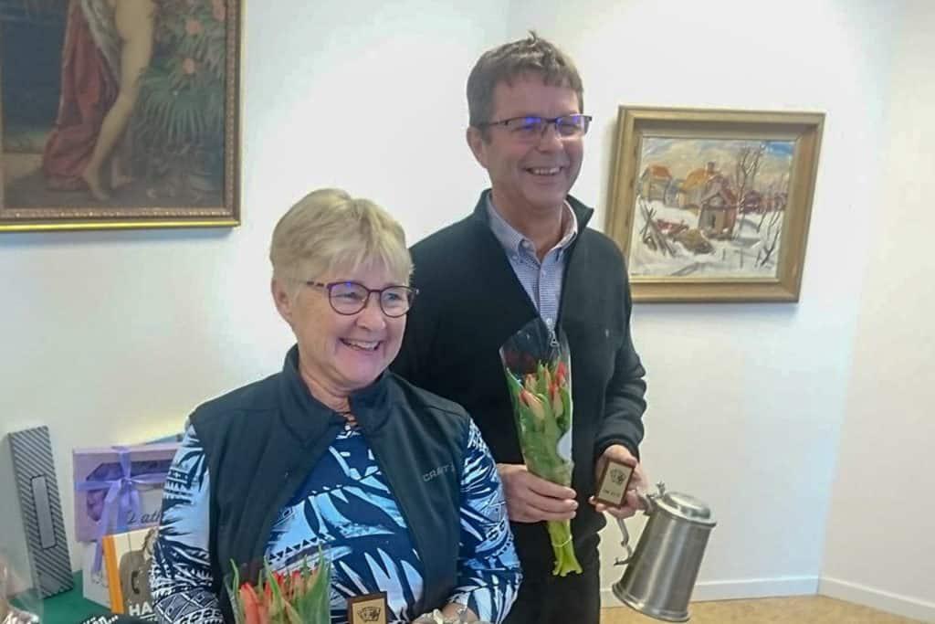 Anette och Alf-Ove Busk Härjedalsmästare i bridge. Foto: Privat