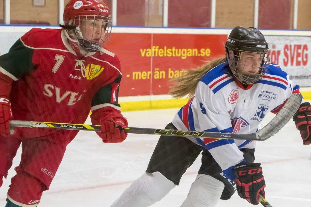 Svegs IK Hockey dam. Foto: Morgan Grip