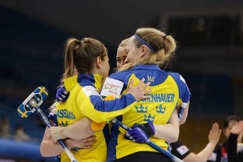 OS-guld till Lag Hasselborg och svegsbördiga coachen Maria Prytz
