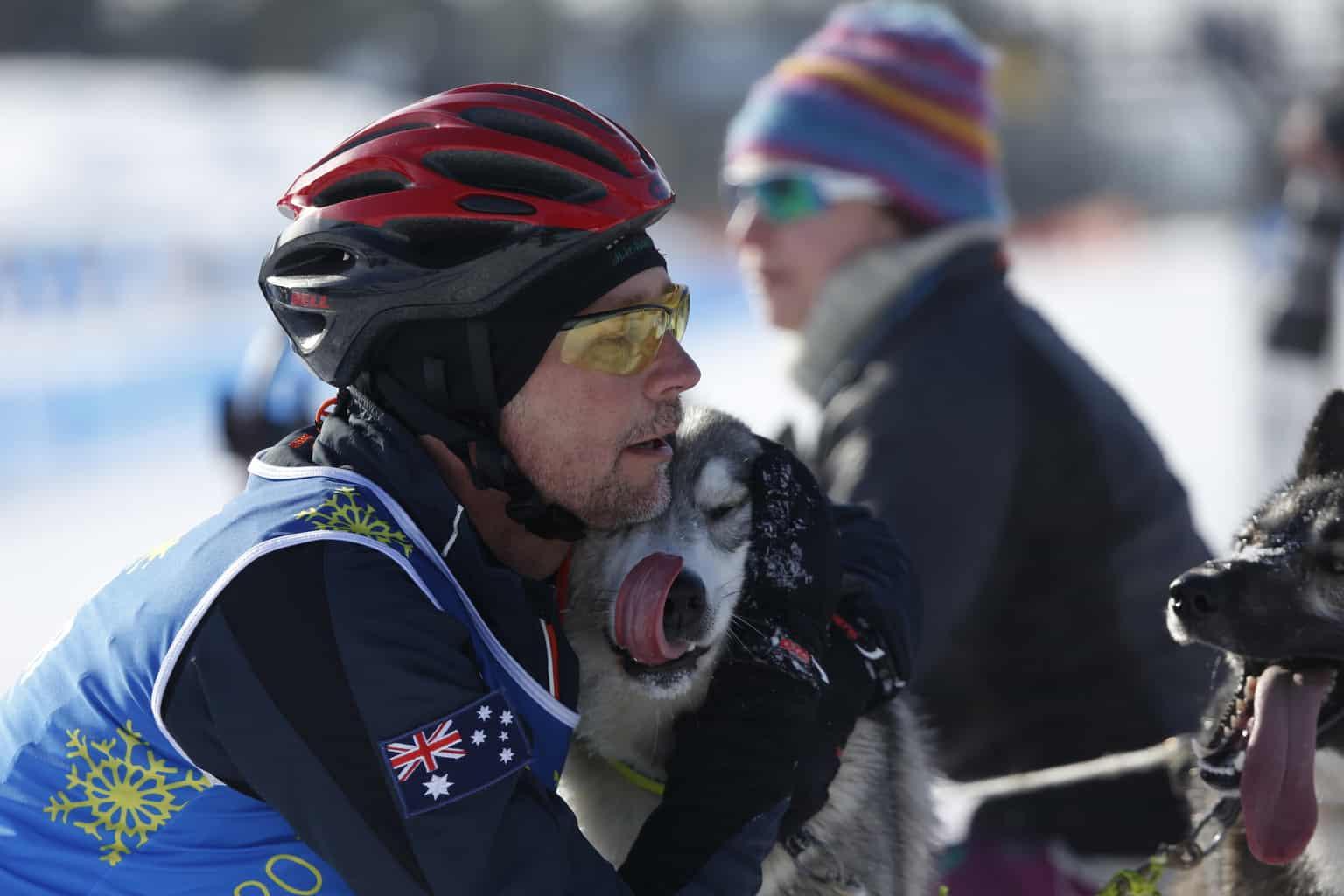 – Det är roligt att vara här, det är kallt men vackert, sade mästerskapens mest långväga deltagare Michael Herbst från Australien. Foto: Niklas Andersson