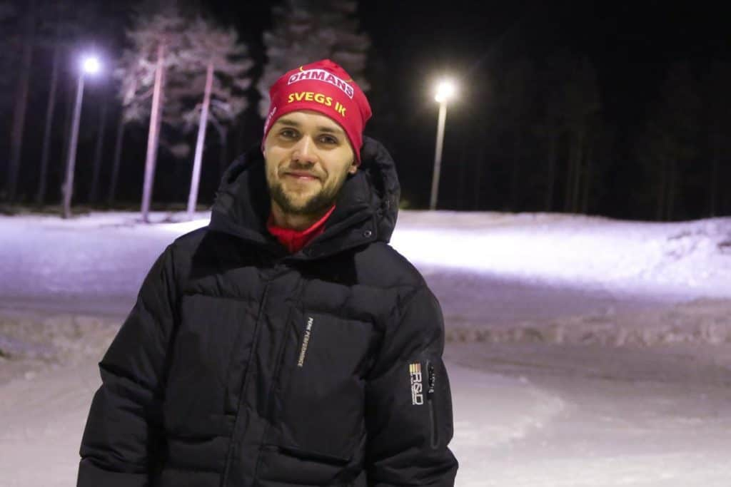 Mattias Widmark, Svegs IK skidor. Foto: Morgan Grip