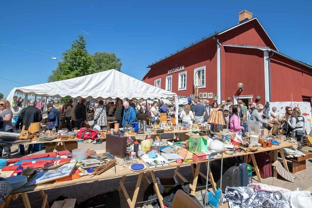 Loppis i Överberg, Härjedalen. Foto: Morgan Grip