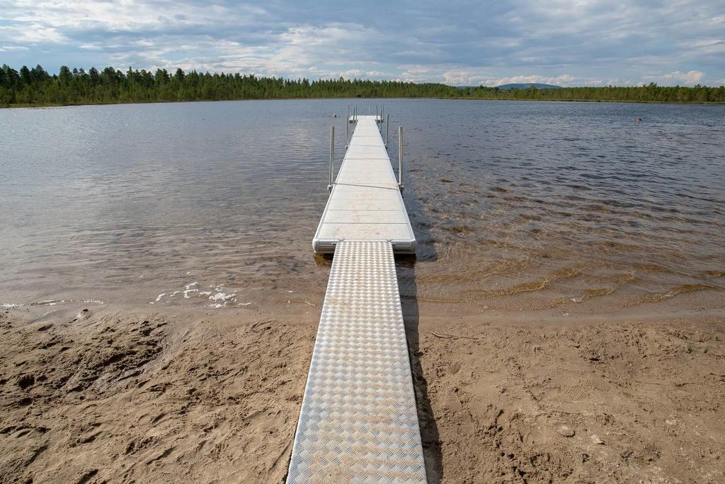 Sandtjärns badplats har fräschats upp. Foto: Morgan Grip