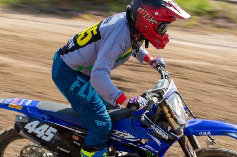 Theo Skoger, i år på en helt ny cross i en helt ny klass med sin 125:a av modell Yamaha YZ i klassen U17. Foto: Morgan Grip