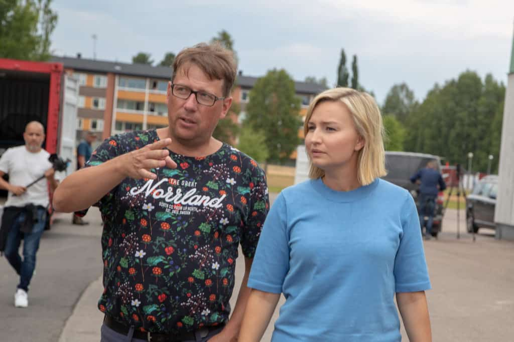 Härjedalens kommunalråd Anders Häggkvist och Kristdemokraternas partiledareEbba Busch Thor. Foto: Morgan Grip