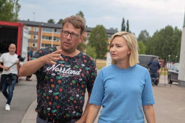 Kristdemokraternas partiledareEbba Busch Thor på plats i Sveg