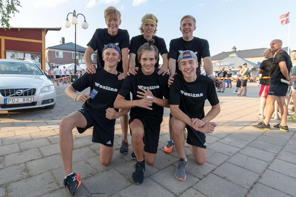 Team Woxlin med Victor Kröjs, Jesper Persson, Filip Fahlström, Lars Carlström, Pelle Jonasson och William Woxlin i laget, vann TH-skubbet 2018. Foto: Morgan Grip