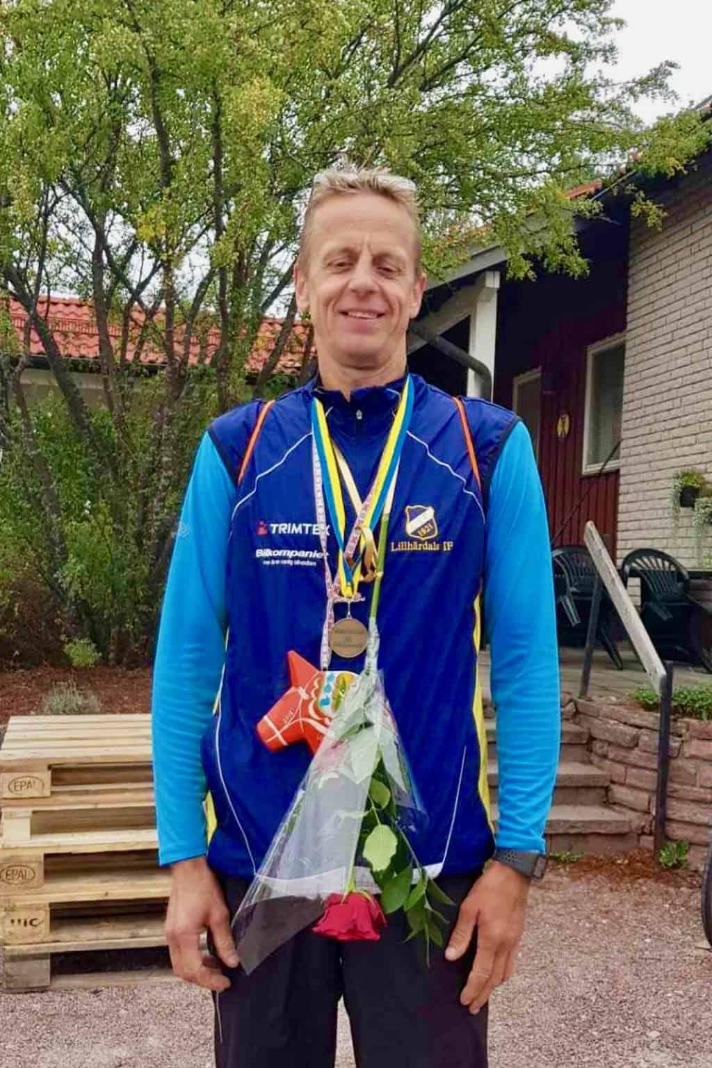 Klubbens prestation stod ändå Per Busk för, som ensam sprang den 9 mil långa sträckan mellan Sälen och Mora. Foto: Klara Lundqvist