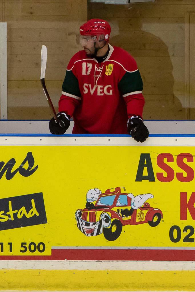 Kanadensaren Karn Natt kommer närmast från svenskt division 2-spel med Vindelns HF, den förra säsongen. Säsongen 2013-14 representerade han Skara IK i division 2. Foto: Morgan Grip