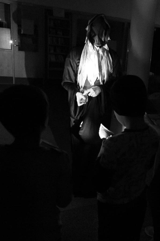 På måndagskvällen bjöd biblioteken i Härjedalen in till spännande spökjakt. Foto: Morgan Grip