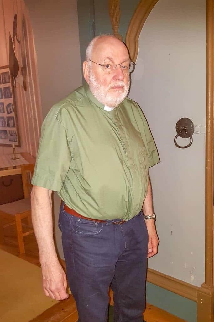 Gudstjänsten leddes i år av Roger Ideborg. Foto: B-G Eliasson
