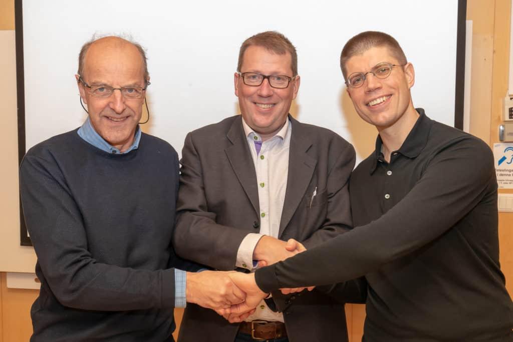 Thomas Wiklund (M), Anders Häggkvist (C) och Lars-Gunnar Nordlander (S). Foto: Morgan Grip