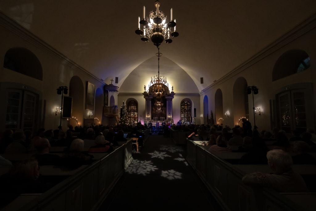 Den 220 personer stora publiken bjöds på en spännande mix av låtar. Foto: Morgan Grip