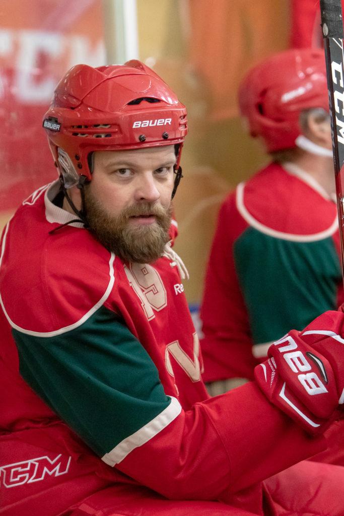 Jonas Forsström pustar ut i båset. Foto: Morgan Grip
