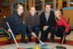 Invigningen av den nya kylanläggningen och belysning gjordes av kommunalrådet Anders Häggkvist (C). Här med Mia Boman, Anna Le Moine och Ulrika Bergman. Foto: Morgan Grip