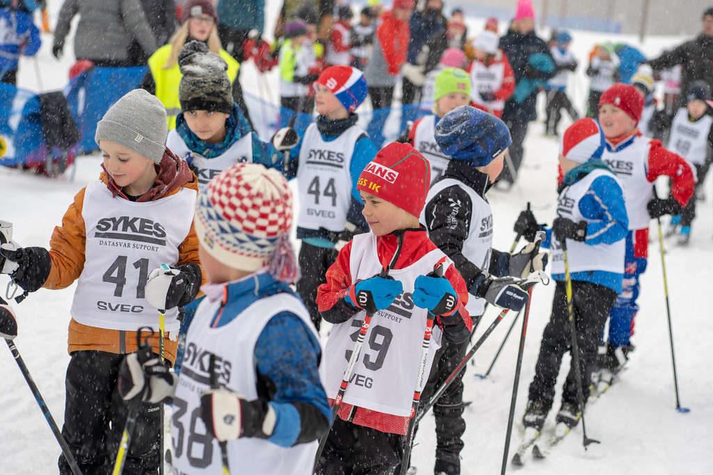 Längdskidtävlingen Härjulfa anordnas varje år av skolorna i Härjedalens kommun. Foto: Morgan Grip