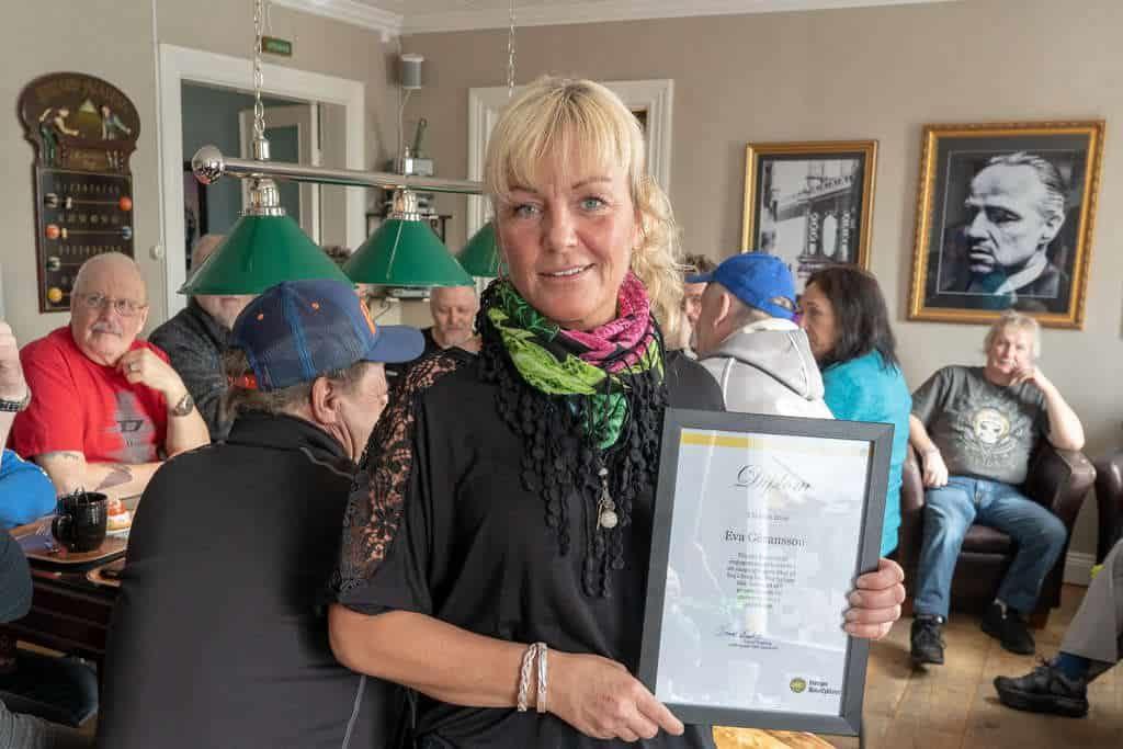Eva Göransson fick på lördagen ta emot utmärkelsen årets SMC:are i Jämtland 2019. Foto: Morgan Grip