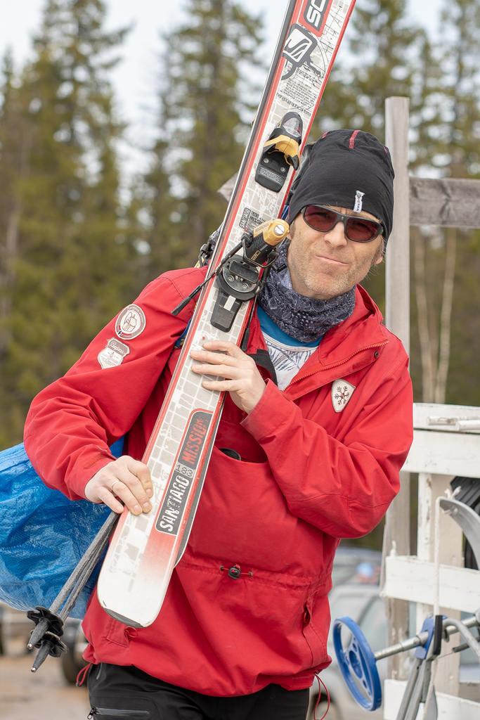 Mikael Andersson var en av dem som valde att spendera långfredagen i Björnberget. Foto: Morgan Grip