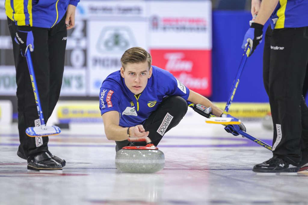 Klart för VM-final i curling för lag Edin och Christoffer Sundgren