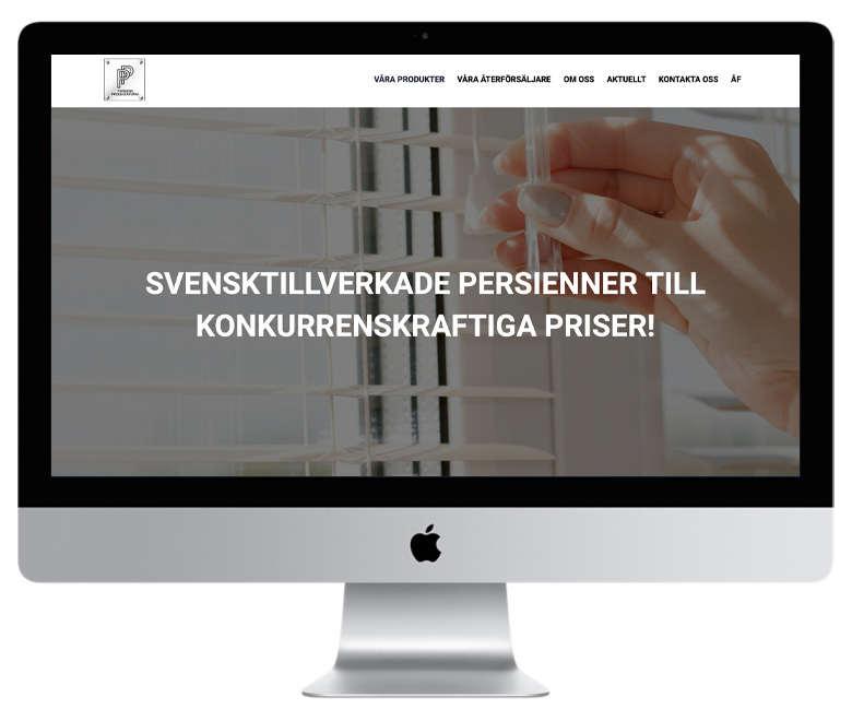 I dag har vi här på webbyrå Mediamakarna Grip glädjen att lansera Persiennproducenternas nya hemsida.
