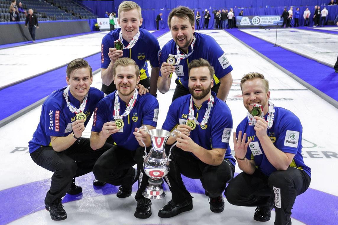 VM-guld i curling till lag Edin och Christoffer Sundgren