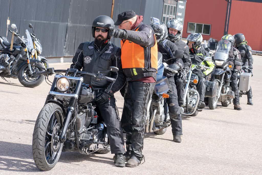 SMC avrostade motorcyklister i Sveg