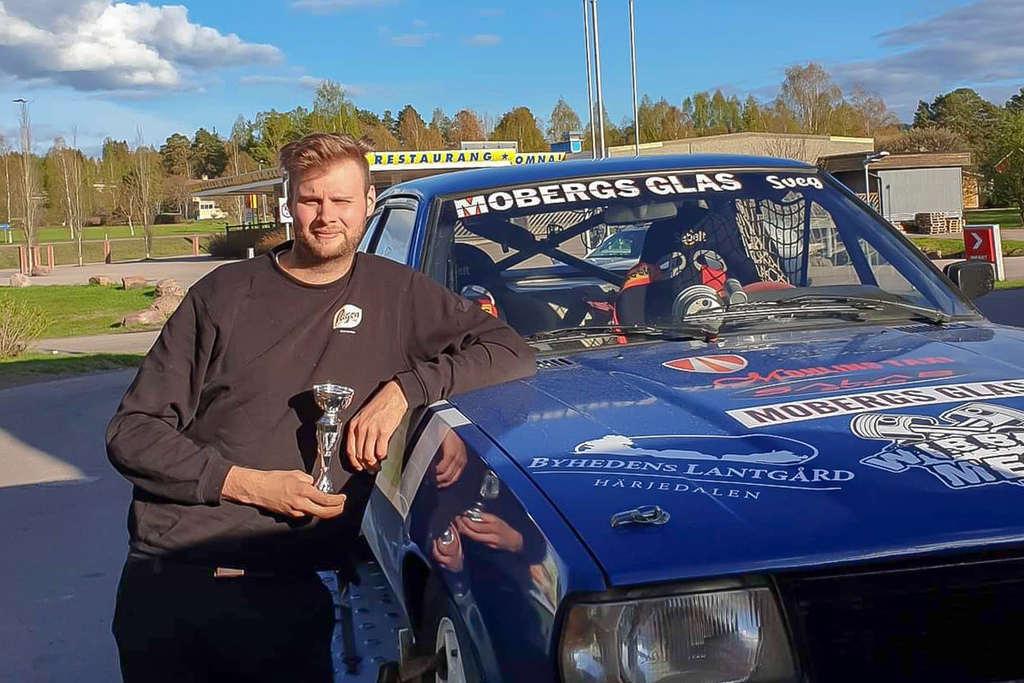 Ringrostig Schylberg slutade fyra i rallysprint i Borlänge