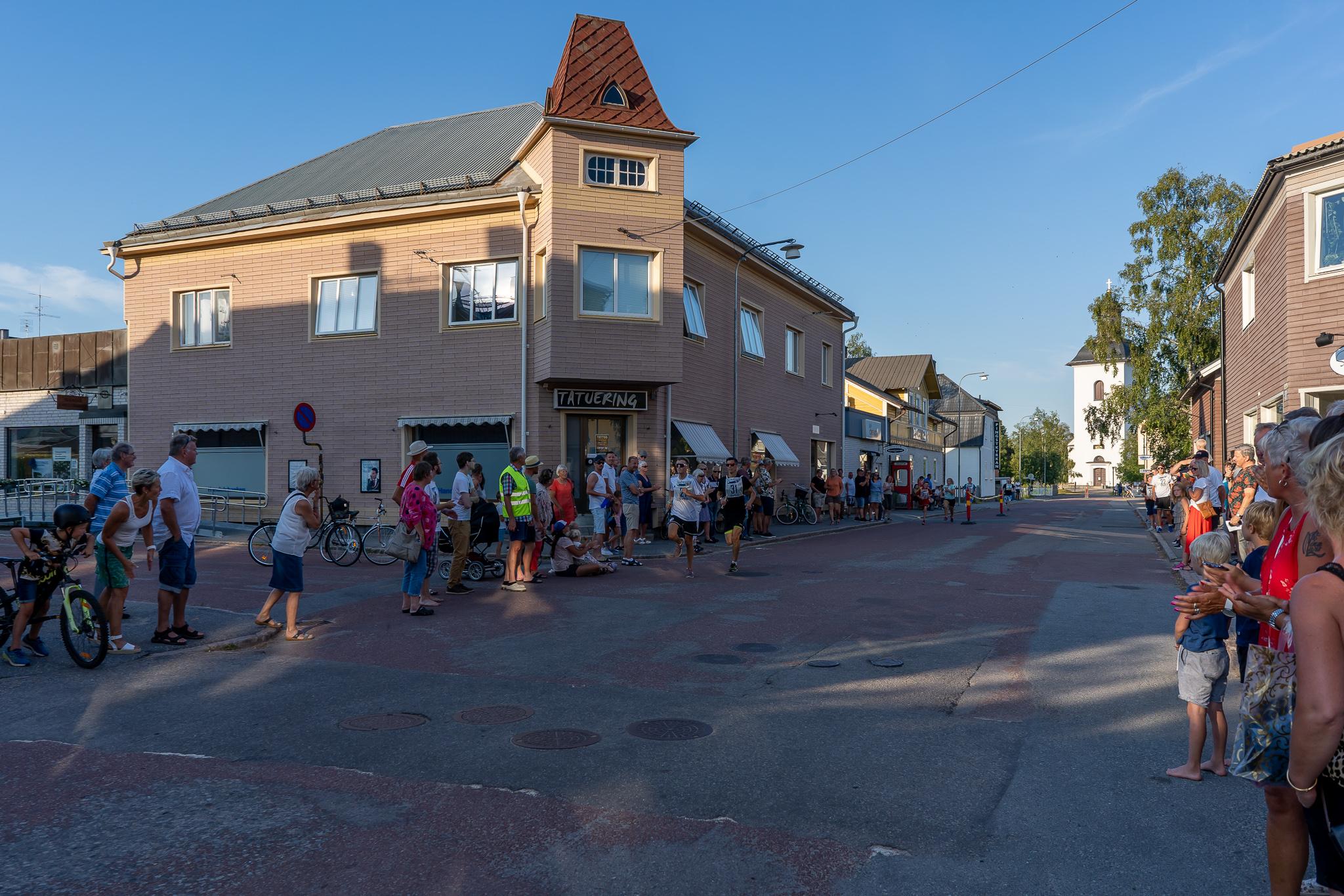 Loppet gick på Kyrkogatan. Foto: Morgan Grip