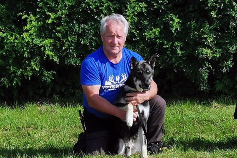 Totalvinnare under helgen blev Hans Martinsson från Ytterberg med hunden Fjäll. Foto: Ytterbergs Viltspår & Eftersök