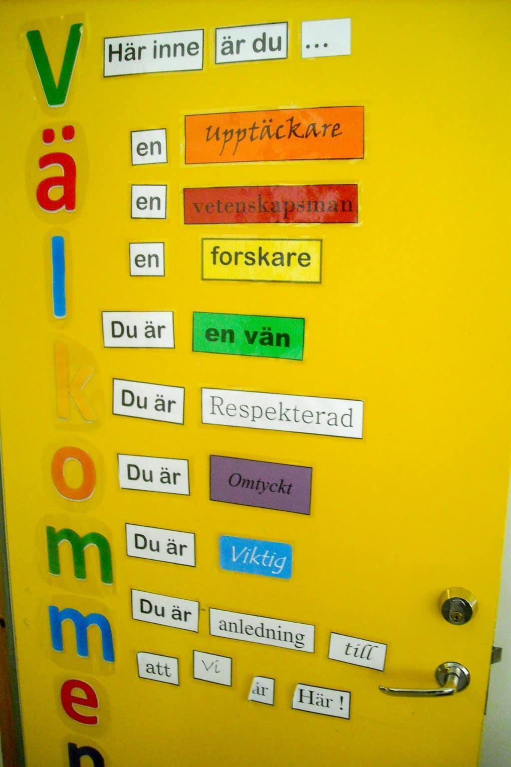 Fina texter om vad man ska tänka på när man går i klass 3a och 3b. Foto: Mats Haldosén