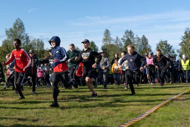 Full fart på Skoljoggen i Sveg