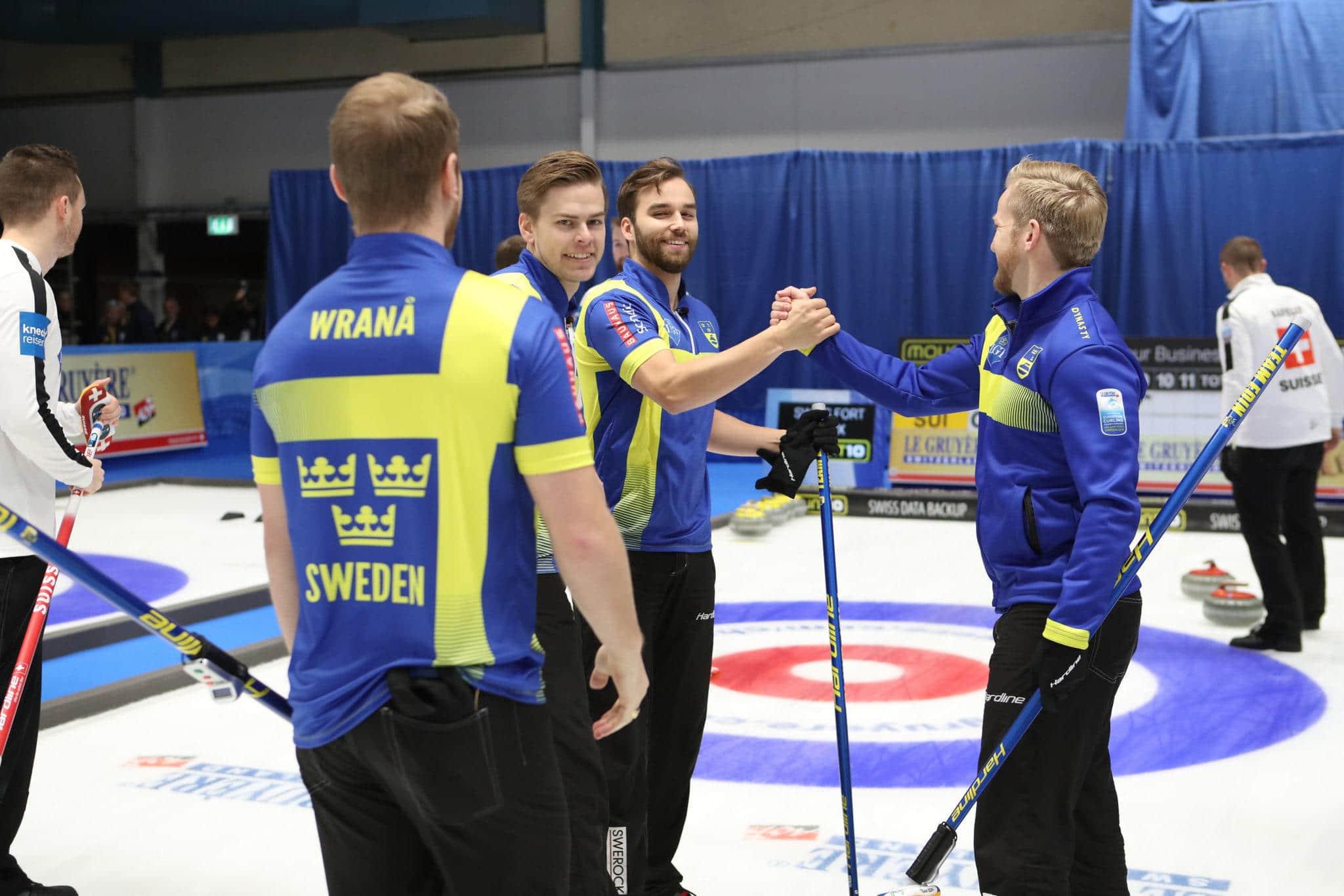 EM-guld i curling till lag Edin och Christoffer Sundgren