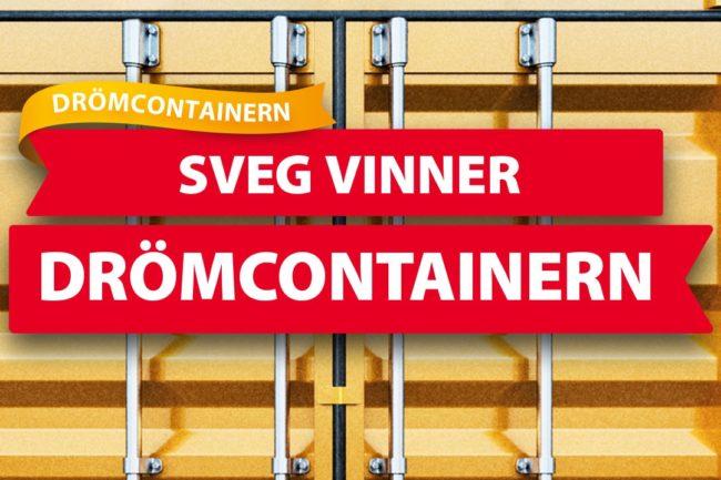 Sveg vinner Drömcontainern