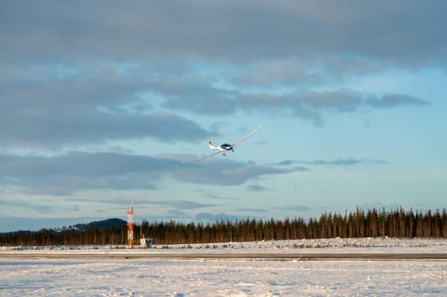 Elflygplan testas i vinterförhållanden i Sveg