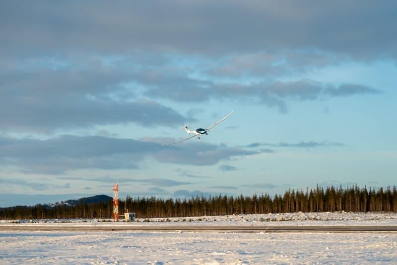 Elflygplan testas i Sveg. Foto: Morgan Grip