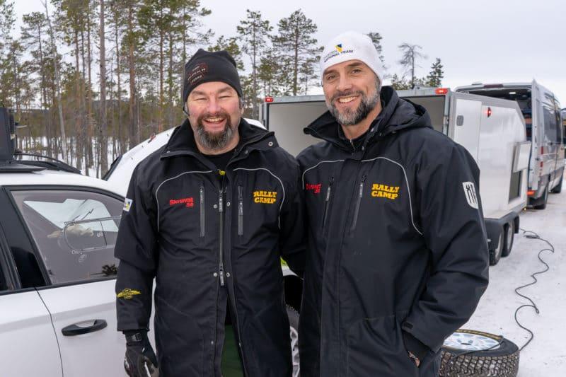 John Vesterström och Thomas Jansson från Trötänga Event arrangerar rallycampen tillsammans med Härjedalens Motorsällskap. Foto: Morgan Grip