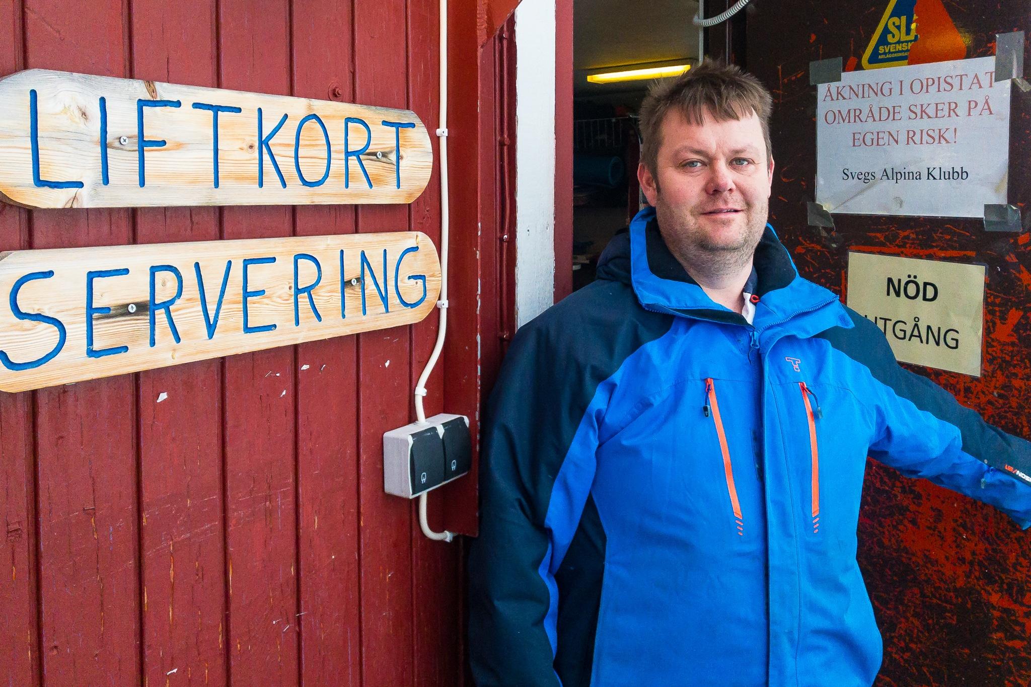Magnus Wåger i serveringen längtade efter kyla och snö. Foto: Morgan Grip