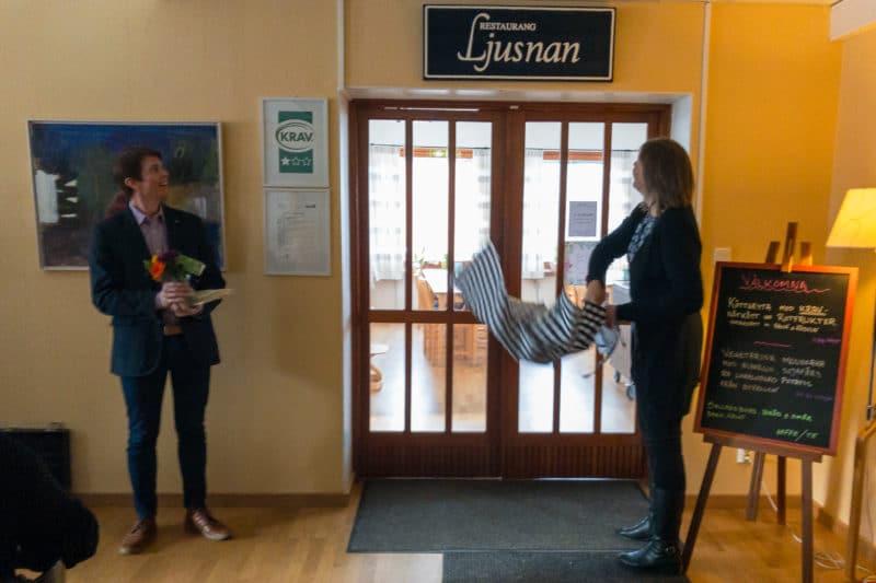 Restaurang Ljusnan på Bäckedals folkhögskola är  invigd