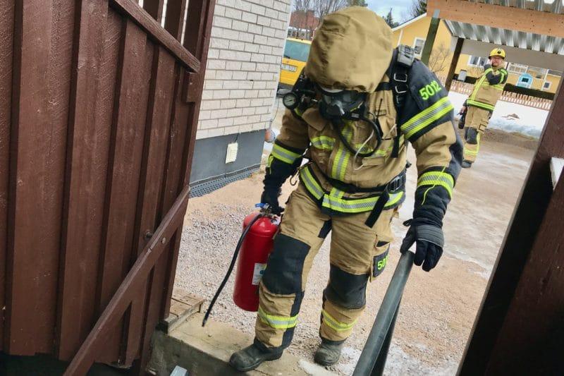 Rökutveckling i bostadshus i Sveg
