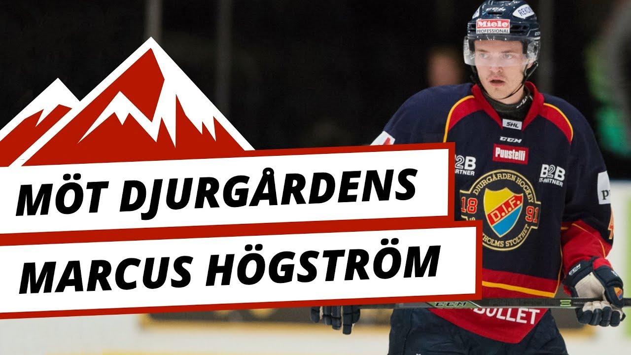 Sveg.se-TV: Möt Djurgårdens backstjärna Marcus Högström i en avslappnad intervju om livet som hockeyspelare