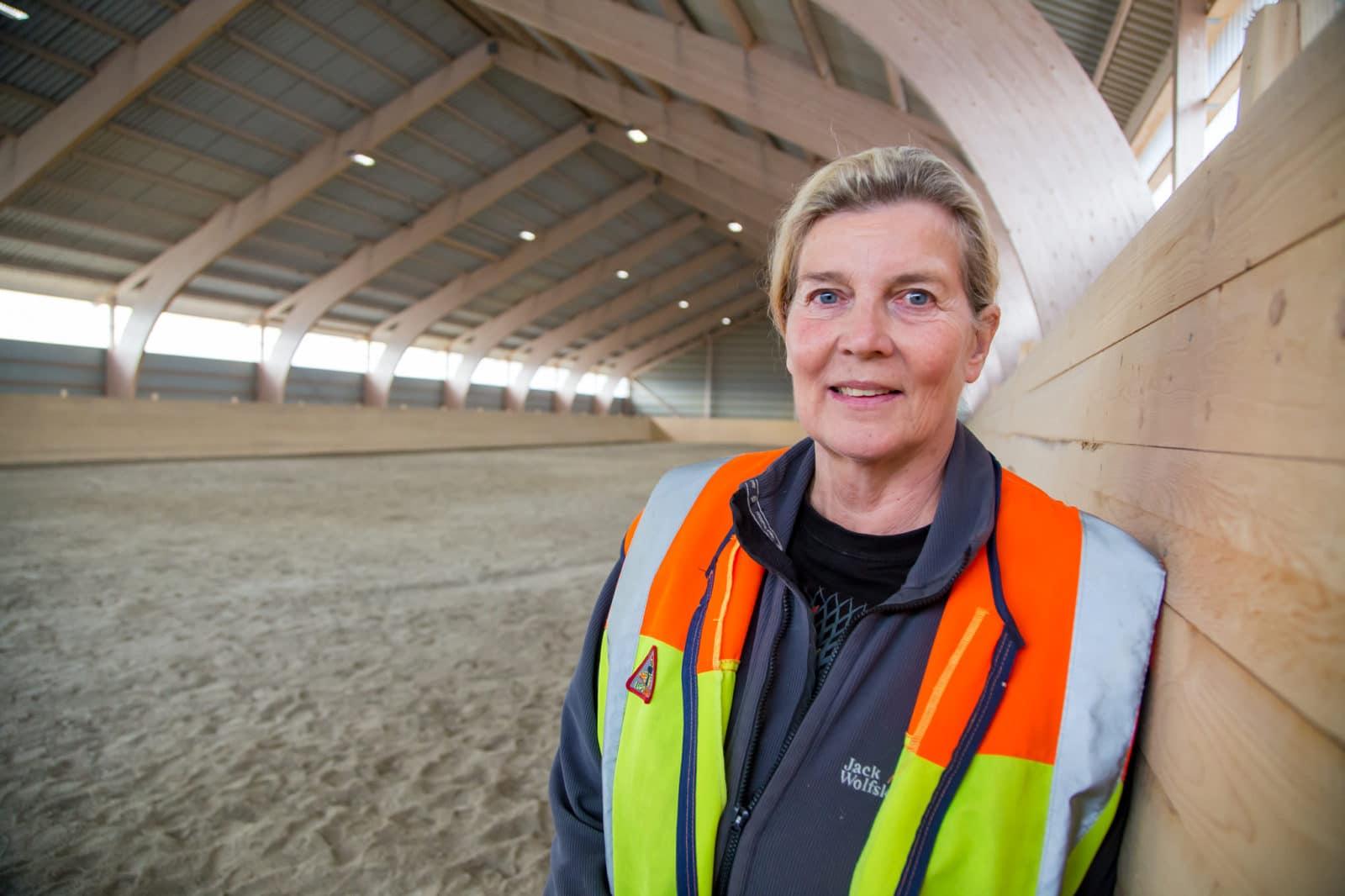 Kerstin Yman från Svegs ryttarförening tilldelas Eldsjälspris. Foto: Morgan Grip
