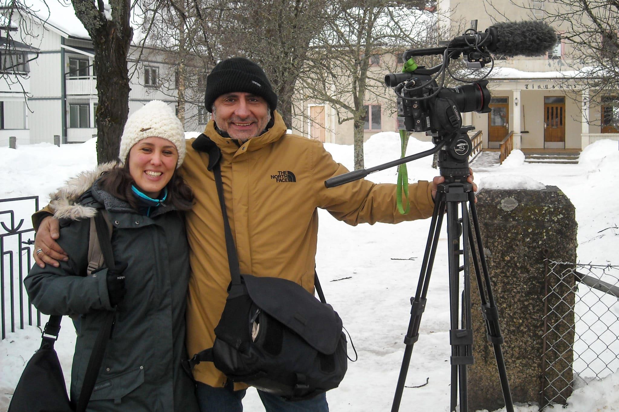 Franskt filmteam i Sveg för tv-dokumentär om Henning Mankells uppväxt och skolgång