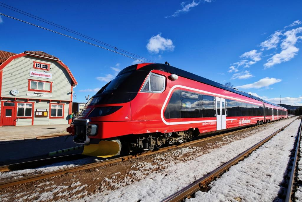 Framtiden hälsar på Inlandsbanan. Foto: Morgan Grip
