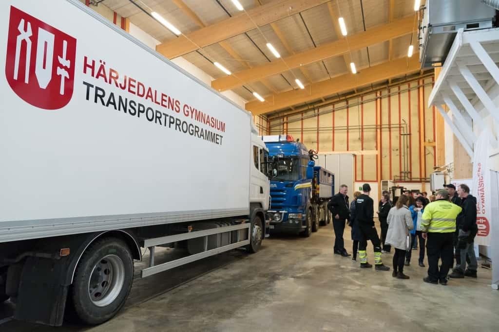 Härjedalens gymnasium invigde transportprogrammets nya lokaler
