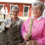 Stort intresse för kvastar och mattor av ris