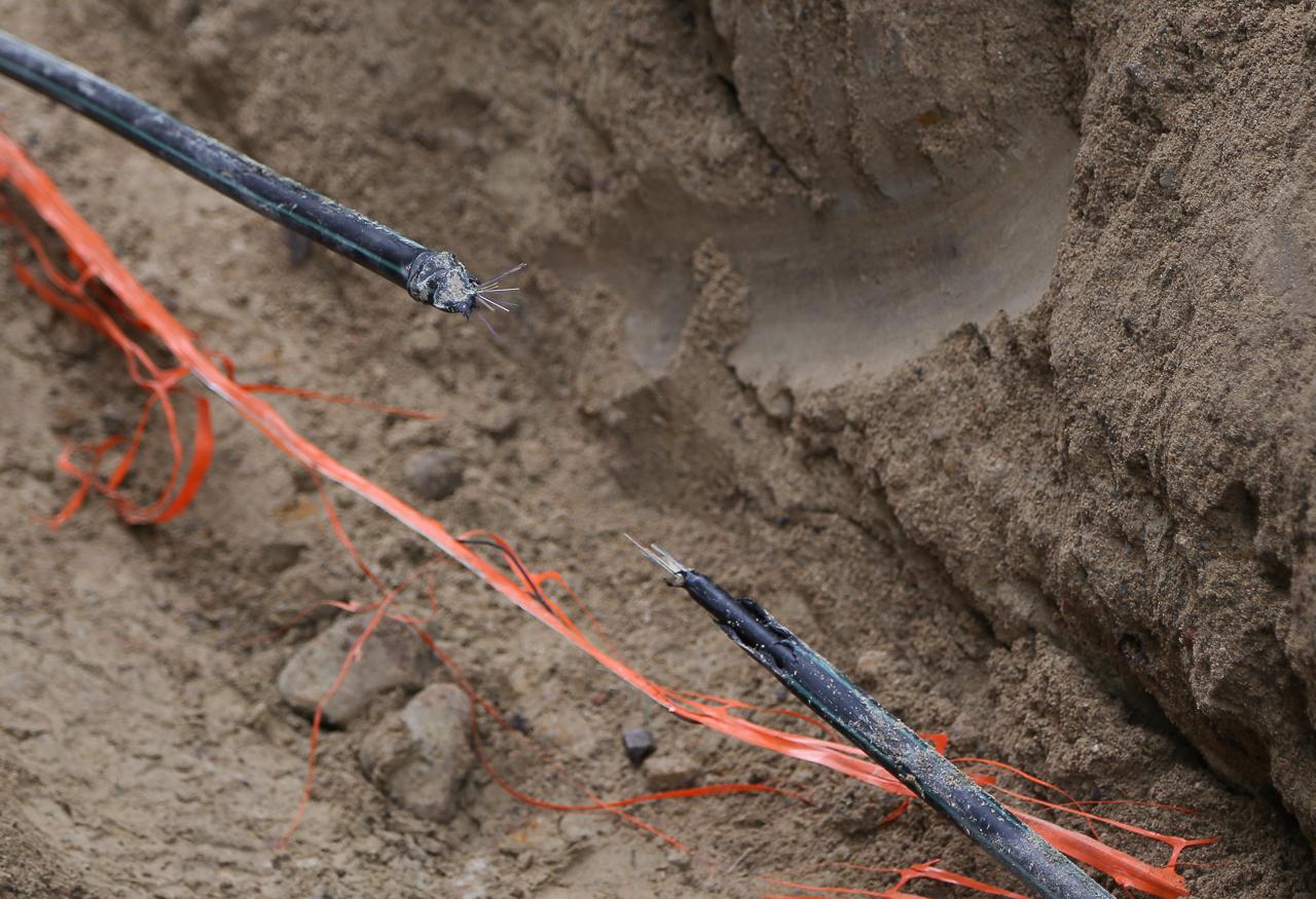 avgrävd fiberkabel telia