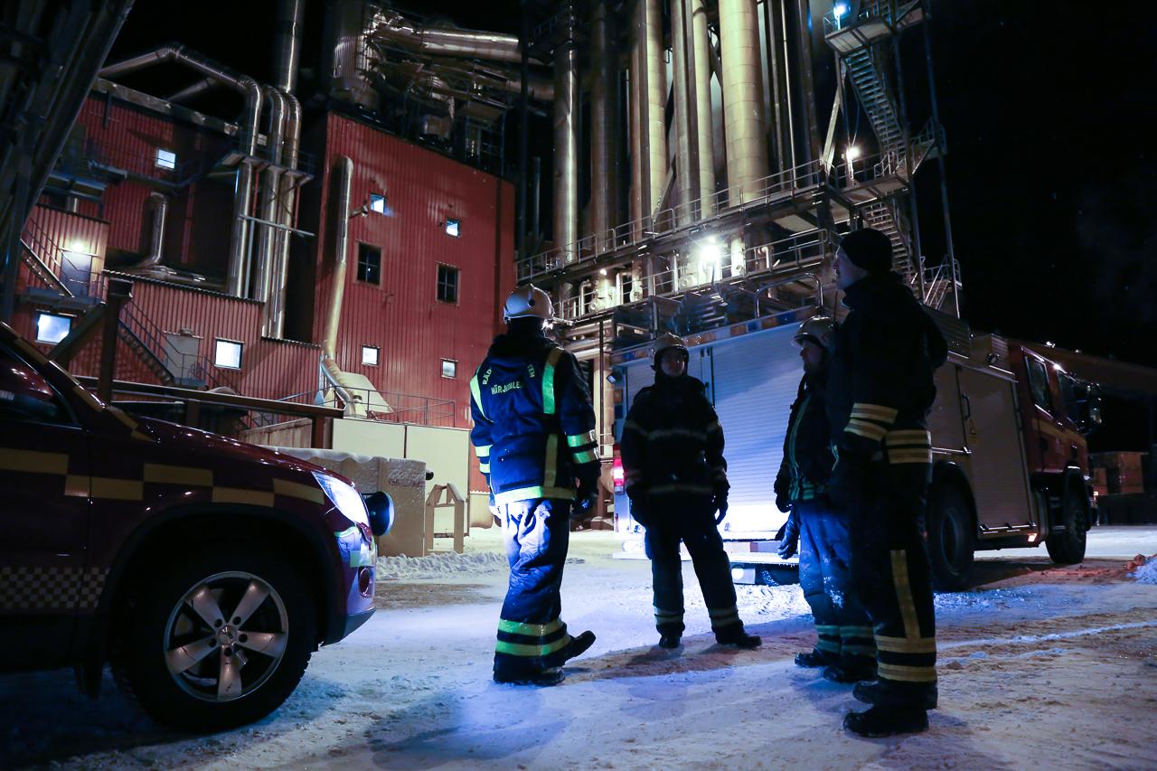 Brand på pelletsfabriken